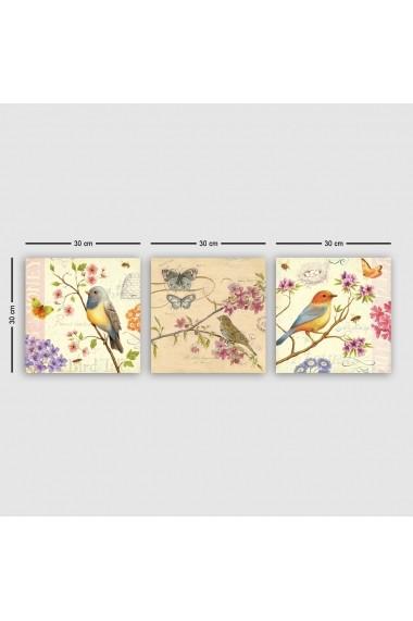 Tablou decorativ din panza (set 3 bucati) Remy 564RMY1159 multicolor