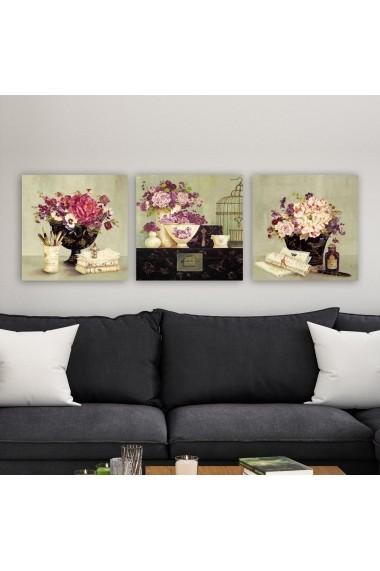 Tablou decorativ din panza (set 3 bucati) Remy 564RMY1160 multicolor