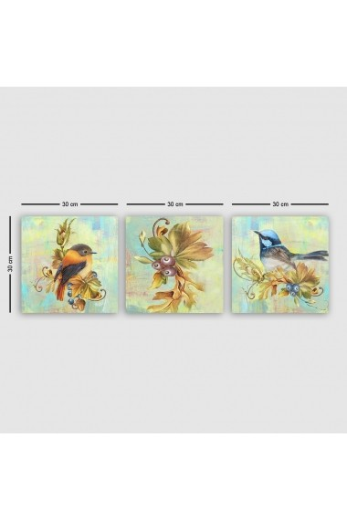 Tablou decorativ din panza (set 3 bucati) Remy 564RMY1167 multicolor