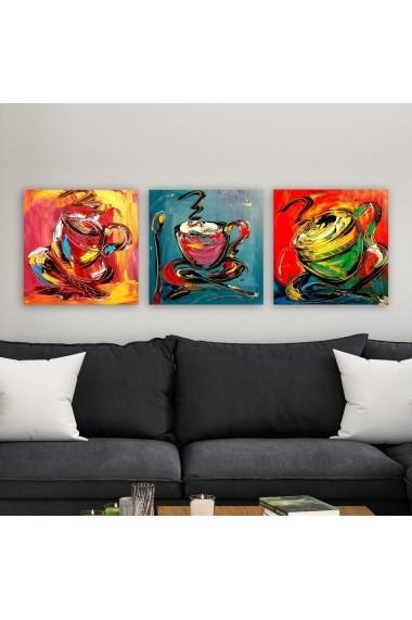 Tablou decorativ din panza (set 3 bucati) Remy 564RMY1175 multicolor