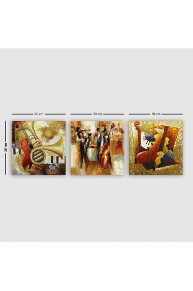 Tablou decorativ din panza (set 3 bucati) Remy 564RMY1182 multicolor