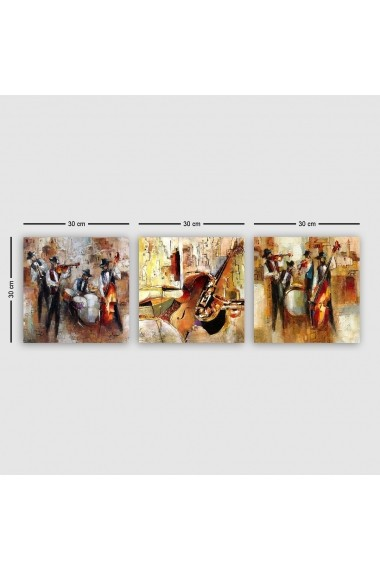 Tablou decorativ din panza (set 3 bucati) Remy 564RMY1183 multicolor