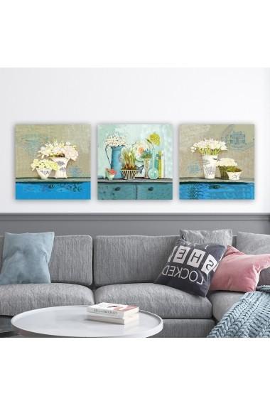 Tablou decorativ din panza (set 3 bucati) Remy 564RMY1185 multicolor