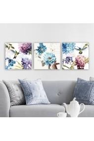 Tablou decorativ din panza (set 3 bucati) Remy 564RMY1188 multicolor