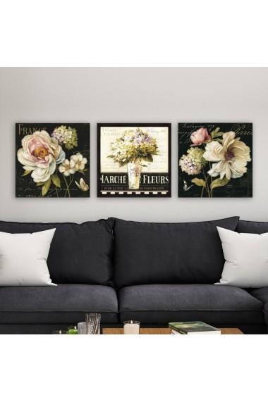 Tablou decorativ din panza (set 3 bucati) Remy 564RMY1190 multicolor