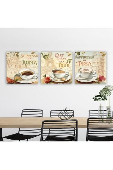 Tablou decorativ din panza (set 3 bucati) Remy 564RMY1191 multicolor