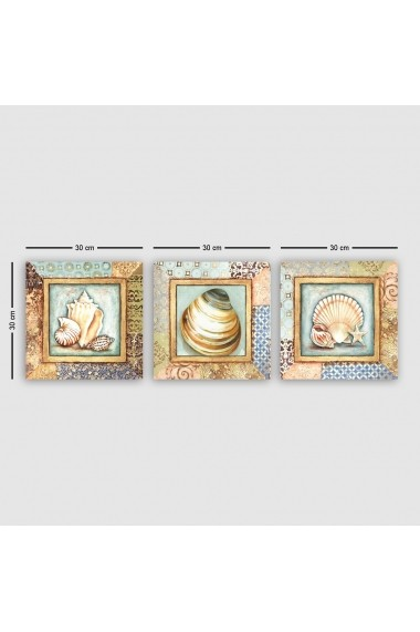 Tablou decorativ din panza (set 3 bucati) Remy 564RMY1194 multicolor