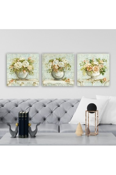 Tablou decorativ din panza (set 3 bucati) Remy 564RMY1199 multicolor