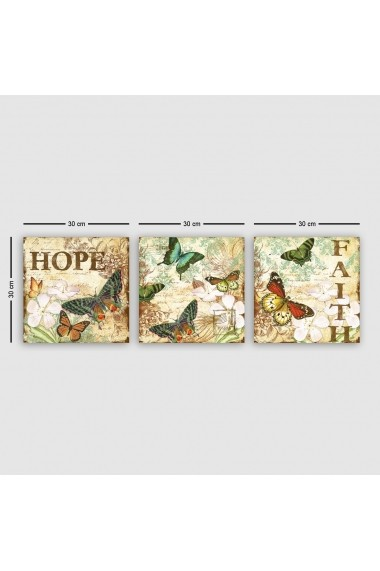 Tablou decorativ din panza (set 3 bucati) Remy 564RMY1203 multicolor