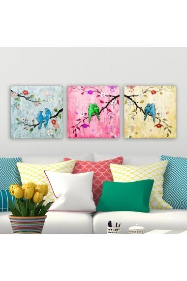 Tablou decorativ din panza (set 3 bucati) Remy 564RMY1205 multicolor