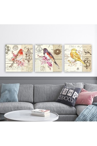 Tablou decorativ din panza (set 3 bucati) Remy 564RMY1206 multicolor
