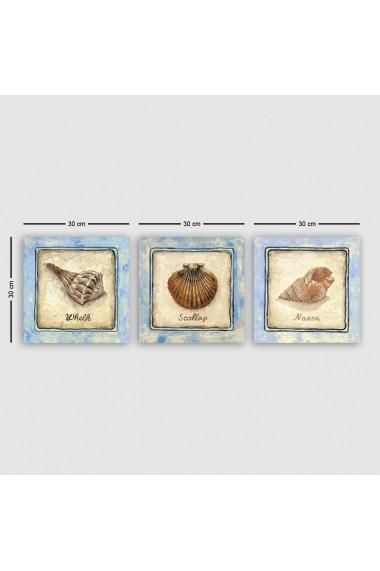 Tablou decorativ din panza (set 3 bucati) Remy 564RMY1207 multicolor