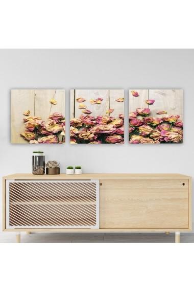 Tablou decorativ din panza (set 3 bucati) Remy 564RMY1213 multicolor