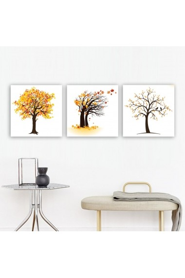 Tablou decorativ din panza (set 3 bucati) Remy 564RMY1217 multicolor