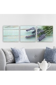 Tablou decorativ din panza (set 3 bucati) Remy 564RMY1228 multicolor