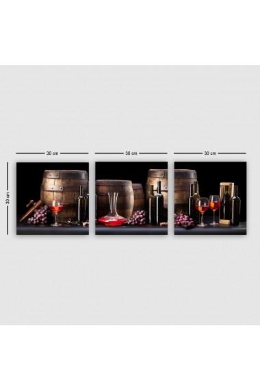 Tablou decorativ din panza (set 3 bucati) Remy 564RMY1230 multicolor