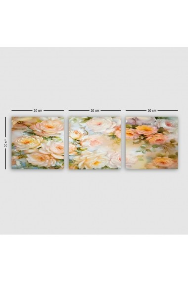 Tablou decorativ din panza (set 3 bucati) Remy 564RMY1231 multicolor