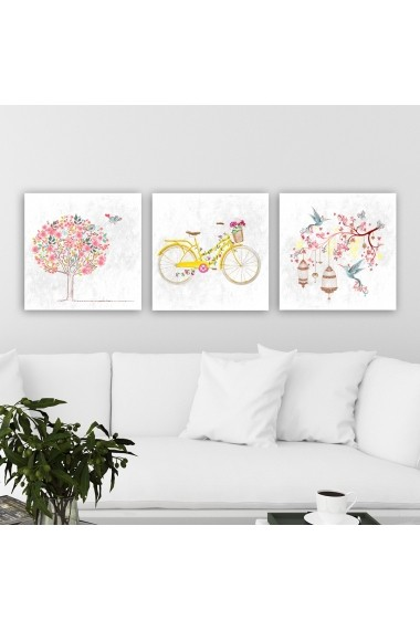 Tablou decorativ din panza (set 3 bucati) Remy 564RMY1239 multicolor
