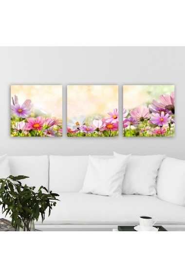 Tablou decorativ din panza (set 3 bucati) Remy 564RMY1243 multicolor