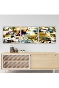 Tablou decorativ din panza (set 3 bucati) Remy 564RMY1245 multicolor