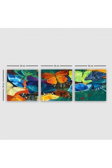 Tablou decorativ din panza (set 3 bucati) Remy 564RMY1246 multicolor