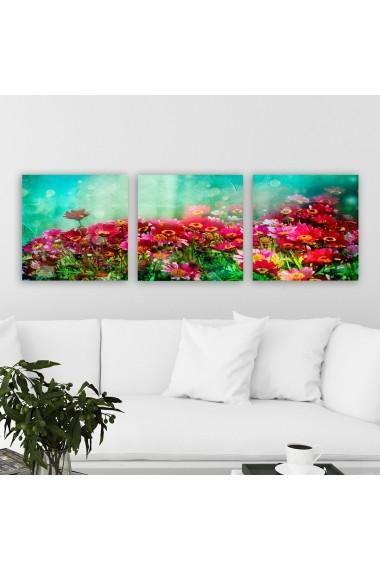 Tablou decorativ din panza (set 3 bucati) Remy 564RMY1253 multicolor