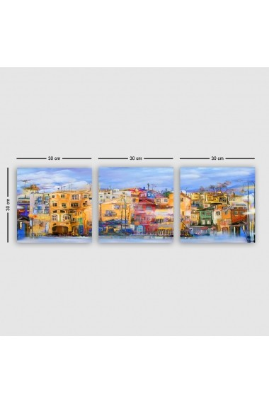 Tablou decorativ din panza (set 3 bucati) Remy 564RMY1255 multicolor