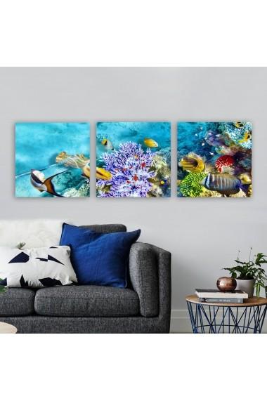 Tablou decorativ din panza (set 3 bucati) Remy 564RMY1261 multicolor