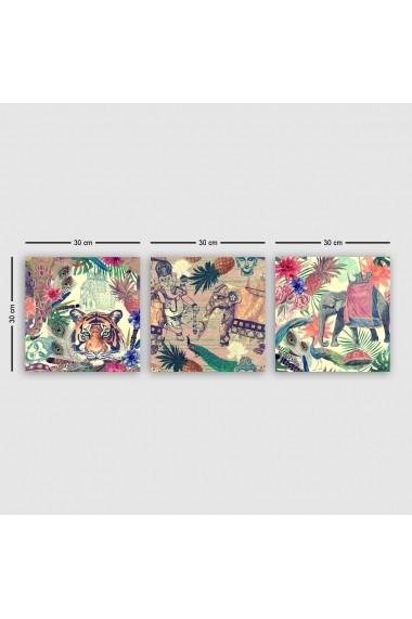 Tablou decorativ din panza (set 3 bucati) Remy 564RMY1268 multicolor