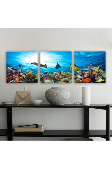 Tablou decorativ din panza (set 3 bucati) Remy 564RMY1271 multicolor