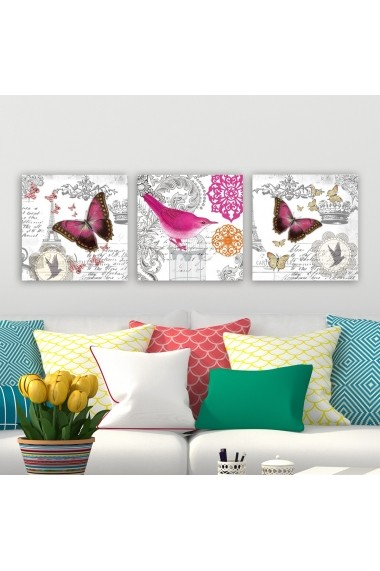 Tablou decorativ din panza (set 3 bucati) Remy 564RMY1275 multicolor