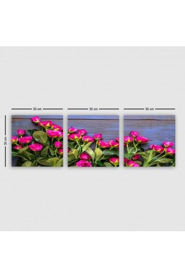 Tablou decorativ din panza (set 3 bucati) Remy 564RMY1279 multicolor