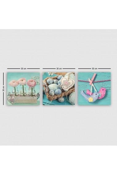 Tablou decorativ din panza (set 3 bucati) Remy 564RMY1281 multicolor