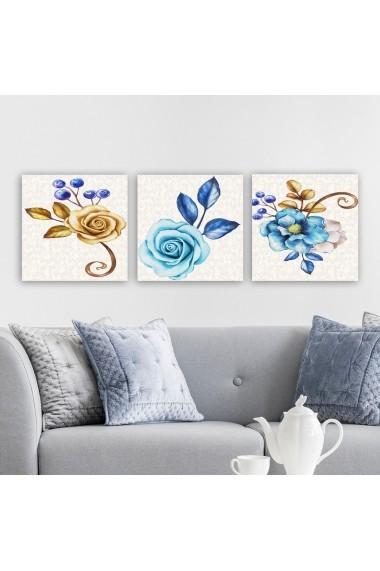 Tablou decorativ din panza (set 3 bucati) Remy 564RMY1282 multicolor