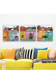 Tablou decorativ din panza (set 3 bucati) Remy 564RMY1284 multicolor