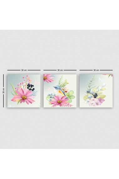 Tablou decorativ din panza (set 3 bucati) Remy 564RMY1286 multicolor