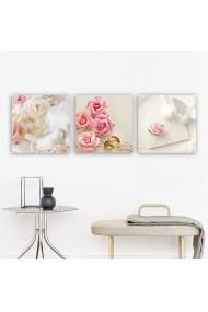 Tablou decorativ din panza (set 3 bucati) Remy 564RMY1291 multicolor