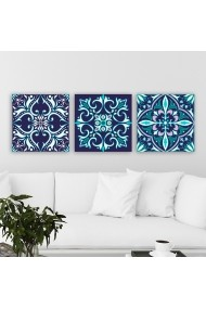 Tablou decorativ din panza (set 3 bucati) Remy 564RMY1302 multicolor