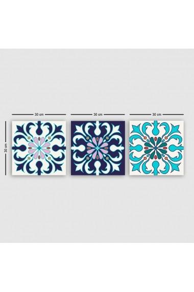 Tablou decorativ din panza (set 3 bucati) Remy 564RMY1303 multicolor