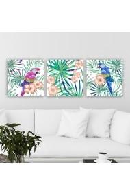 Tablou decorativ din panza (set 3 bucati) Remy 564RMY1305 multicolor