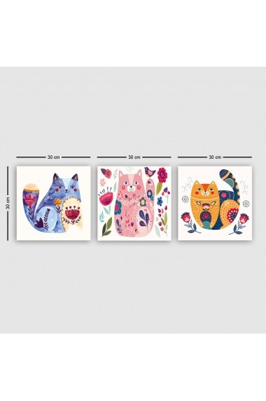 Tablou decorativ din panza (set 3 bucati) Remy 564RMY1306 multicolor
