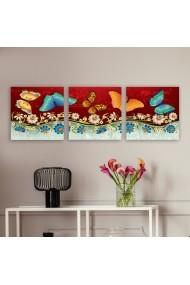 Tablou decorativ din panza (set 3 bucati) Remy 564RMY1308 multicolor