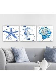 Tablou decorativ din panza (set 3 bucati) Remy 564RMY1309 multicolor