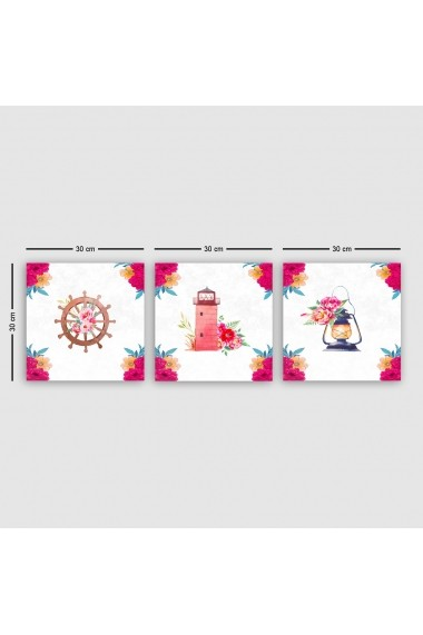 Tablou decorativ din panza (set 3 bucati) Remy 564RMY1312 multicolor