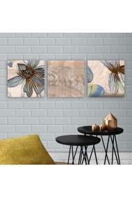 Tablou decorativ din panza (set 3 bucati) Remy 564RMY1313 multicolor