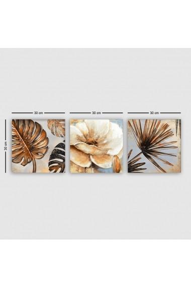 Tablou decorativ din panza (set 3 bucati) Remy 564RMY1315 multicolor