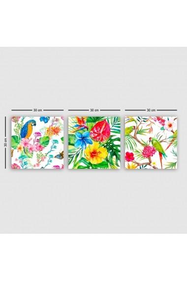 Tablou decorativ din panza (set 3 bucati) Remy 564RMY1319 multicolor