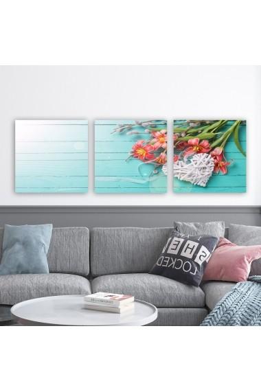 Tablou decorativ din panza (set 3 bucati) Remy 564RMY1322 multicolor