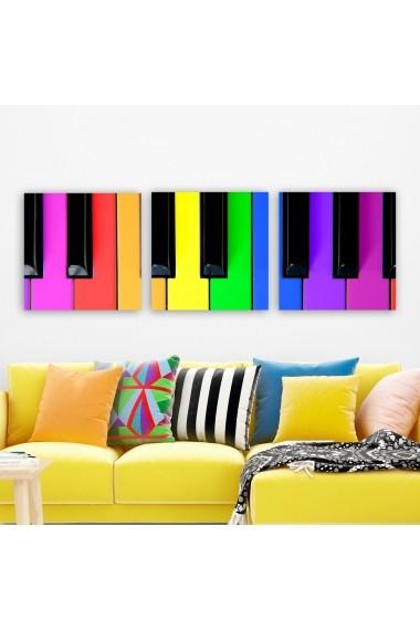 Tablou decorativ din panza (set 3 bucati) Remy 564RMY1324 multicolor