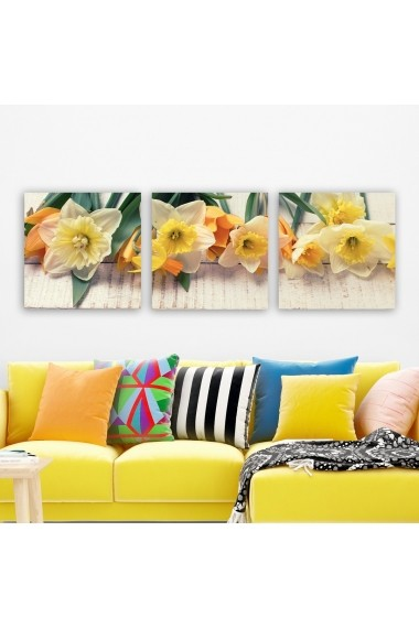 Tablou decorativ din panza (set 3 bucati) Remy 564RMY1325 multicolor